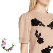 Kate Spade★floral applique sweater☆セール