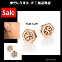 ★Tory Burch★ HEX-LOGO STUD EARRING ピアス ROSE GOLD