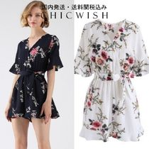 国発/送関込Chicwish☆Dwell in Floral Dream Wrapped Playsuit