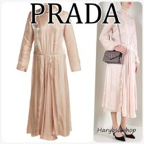 VIP価格★PRADA★charmeuse with bowロングドレス
