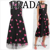 VIP価格★PRADA★Light Petale embroidered チュールドレス