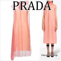 VIP価格★PRADA★technical oraganza ミディドレス