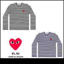 PLAY COMME des GARCONS ボーダー 長袖 レディース Tシャツ