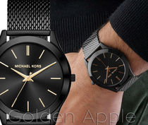 送関込★Michael Kors Slim Runway Black Mens MK8607 腕時計