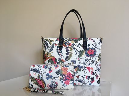 TORY BURCH KERRINGTON SMALL TOTE & PARKER FLORAL WALLET 即発