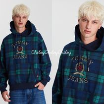 【Tommy Jeans】Plaid Crest Hoodie/フーディ