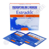 更年期障害  Estradot (Oestradiol) - 25mcg (8 Patches) 1pc