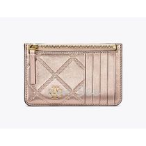【TORY BURCH】GEORGIA METALLIC カードケースRose Gold