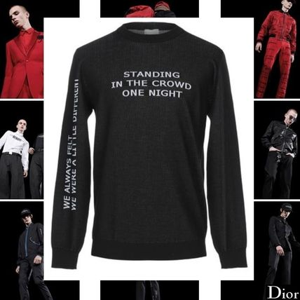buyma dior homme standing in the crowd one night ブラックニット