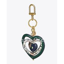 【TORY BURCH】FLORAL HEART SPINNER  キーホルダー