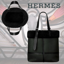 HERMES Sac Etriviere Shopping aviateur トートバッグ ブラック