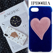 "★IPHORIA★""Blue With Pink"" ベルベット*iPhone 7/8ケース"
