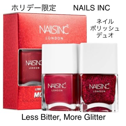 限定☆NAILS INC☆Less Bitter More Glitter☆ネイルデュオ