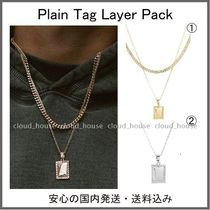 Chained&Able★Plain Tag Layer Packネックレス・2色 送料関税込