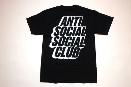 ANTI SOCIAL SOCIAL CLUB Blocked Tee 黒 アンチ ロゴ Tシャツ