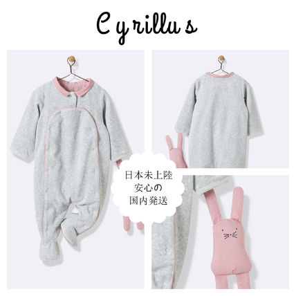 Baby's velour and gingham check sleepsuit - grey