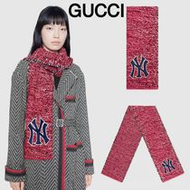 新作グッチ☆ GUCCI Scarf with NY Yankees patch マフラー