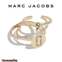 MARC JACOBS ダブル J パヴェ リング 3点セット