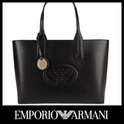 c968a1d025b0 EMPORIO ARMANI トートバッグ EMPORIO ARMANI EAGLE LOGO SHOPPER BAG ロゴショッパー トート ...