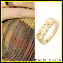 送料関税込☆Maria Black☆GIRLリング HIGH POLISHED GOLD
