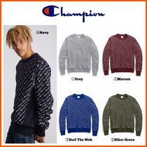 新作!!☆CHAMPION☆Reverse Weave Crew, All-over Logo
