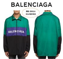 関送込☆BALENCIAGA Logo-Print ColourBlock Shell Track Jacket