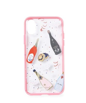 kate spade new york スマホケース・テックアクセサリー 大人気商品★kate spade Jeweled Champagne iPhone X Case★即発