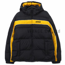 ★国内発送★ Supreme Stripe Panel Down Jacket 黒