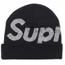 ★国内発送★ Supreme Reflective Big Logo Beanie