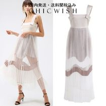 Chicwish☆Beyond the Cloud Pleated Mesh Cami Maxi Dress