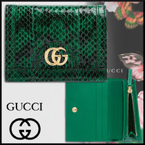GUCCI グッチ 19SS Ophidia スネークスキン カードケース*緑
