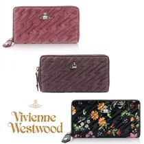 UK発*Vivienne Westwood* COVENTRYベルベットジップ長財布