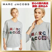 ◆MARC JACOBS◆Lux ビーズ刺繍 ロゴ トレーナー 【関税送料込】