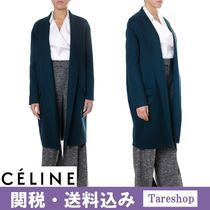 【関税送料込】CELINE BLUE WOOL OPEN COAT