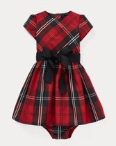 新作♪ 国内発送 Tartan Plaid Dress & Bloomer girls 9~24M