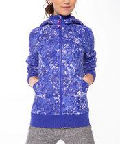 ivivva athletica(イヴィヴァ アスレティカ) キッズアウター 【 The ivivva Hoodie 】★ Speckled Bloom Multi Blue/L./S.L.