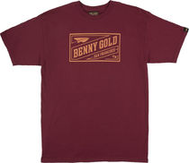 Benny Gold Stamp Tee -クラレット