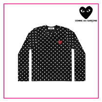 Ladys PLAY COMME des GARCONS ドットレッドプレイ長袖Tシャツ