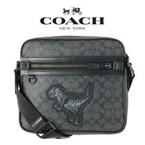 日本完売★Coach Rexy Signature Messenger Bag★コーチ バッグ