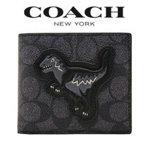 日本完売★Coach Rexy Signature Billfold Wallet★コーチ 財布