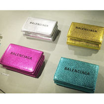VIPセール☆関税込【BALENCIAGA】Everyday Mini Wallet Metallic