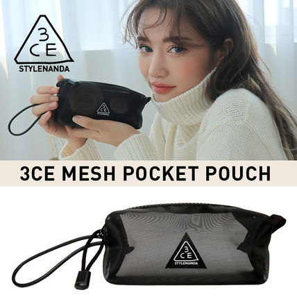 3 CONCEPT EYES メイクポーチ ★3CE★メッシュポケットポーチ / MESH POCKET POUCH《追跡送》