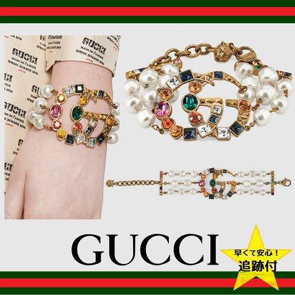 ★追跡有【GUCCI】Crystal Double G bracelet ★