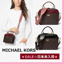 ◆MK◆SALE◆Mott Mini Logo and Leather Crossbody