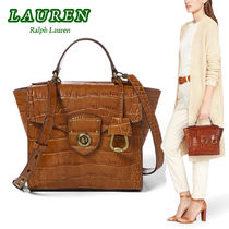 激安価格!Ralph Lauren  Crocodile-Embossed Satchel  2way