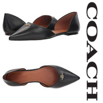【COACH】●新作●   Leather Pointy Toe Flat