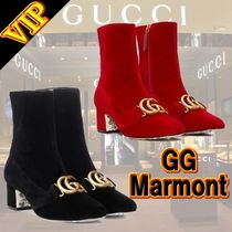 """◆◆VIP◆◆ GUCCI """"GG Marmont"""" Victoire ベルベット パンプス"""