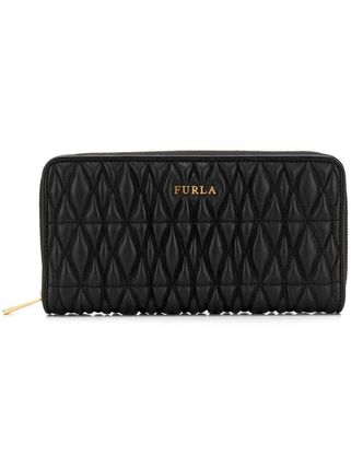 FURLA Cometa zip around wallet ブラック 新作 お財布