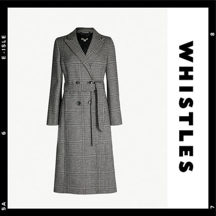 SALE【WHISTLES】Penelope Belted Check Coat