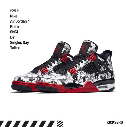 on sale ea348 a4c28 Nike スニーカー 人気話題!Nike Air Jordan 4 Retro SNGL DY Singles Day Tattoo